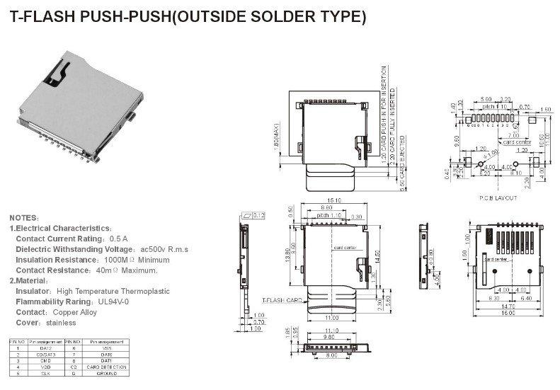 Micro Sd Card Push Push Socket Connector Buy T Flash
