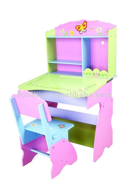 De madera de los ni os de aprendizaje escritorio con silla para ni as buy mesa de aprendizaje - Escritorios de ninas ...