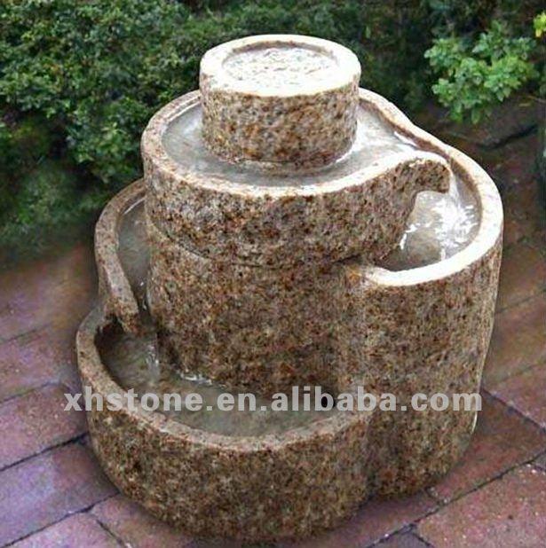 piedra natural tallada jardn cascada aos