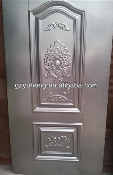Steel Door Designs sl 7010 green granulatred double leaf prestegious multi locking high security steel door Iron Sheet Metal Door Skin Design Drawing Room Door
