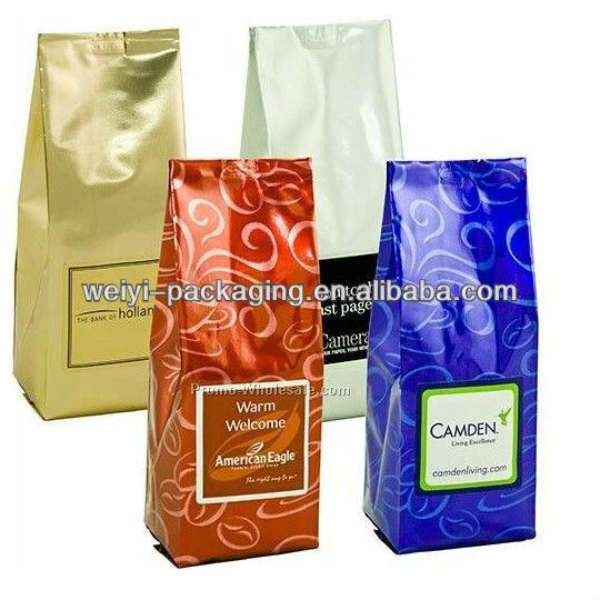 custom printing aluminum foil coffee bag with valve
