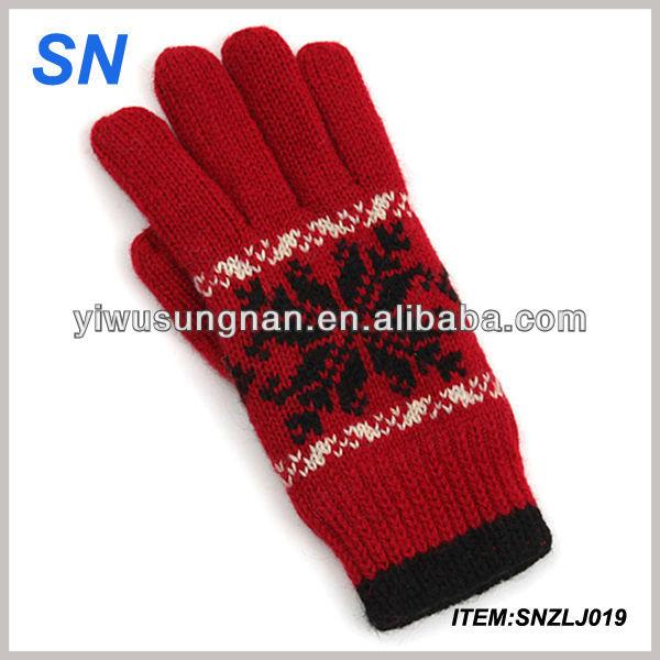 YiWu alta qualidade hot moda artesanal malha barato acrílico malha luva de  inverno bonito luvas de cf8083fafbf