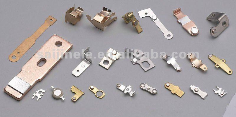 Copper Electrical Components : Saijin manufacture precision electrical silver copper