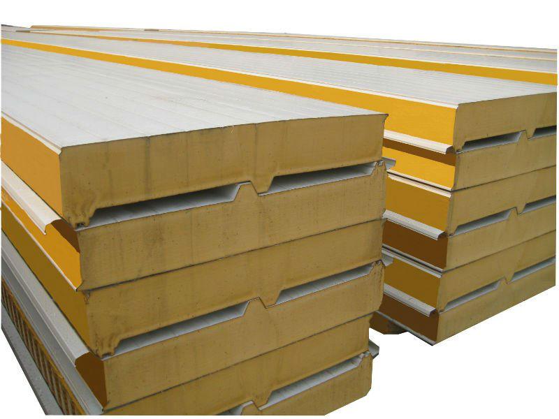 Polyurethane Sandwich Panel : Pu sandwich panel with good quality used italy machine
