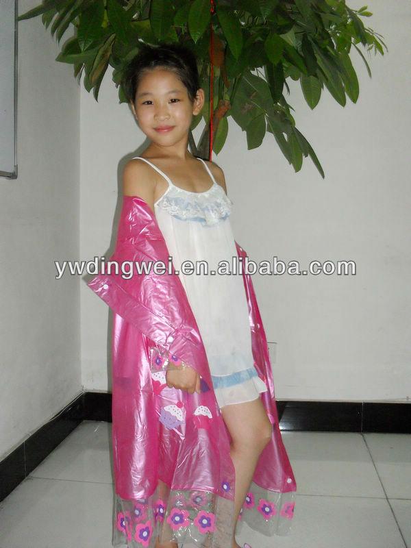 Pvc Kid Girl Raincoat Cheap Kids Raincoat Pvc Raincoat For