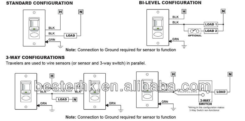 Motion Detector Switch Wiring Diagram - Wiring Diagrams on