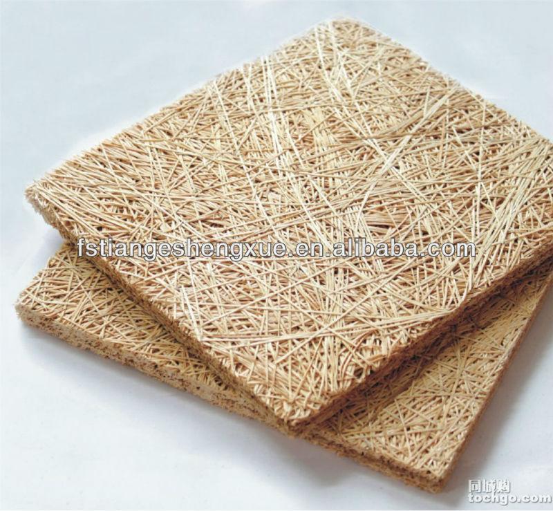 Fireproof Painted Wood Wool Acoustic Panel Wood Fiber