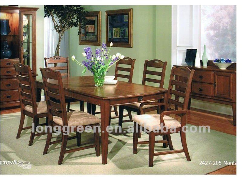 style américain bois massif salle À manger tables - buy product on ... - Modele De Salle A Manger En Bois