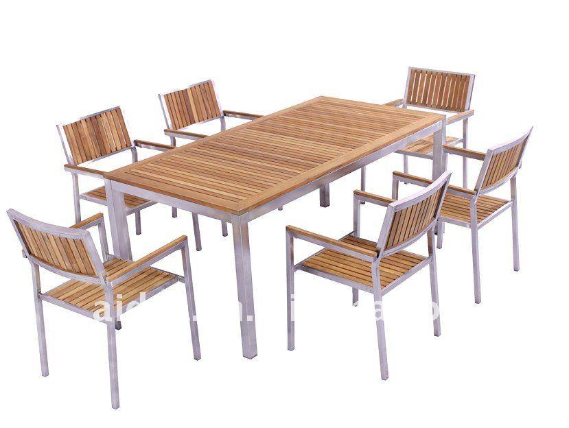 Teak and steel outdoor furniture home design - Garden furniture steel ...
