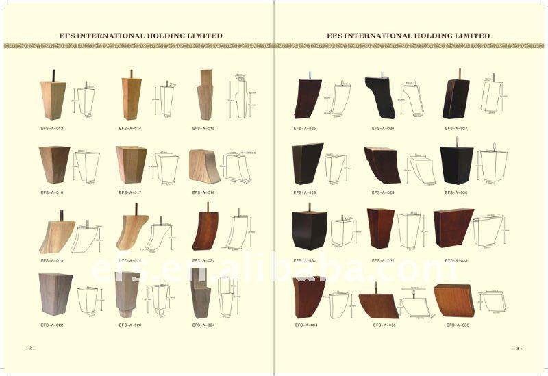 Useful Unpainted Round Short Sofa Legs Wood Leg