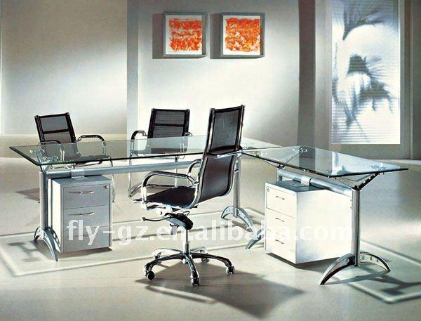 good glass office desk glass computer desk fancy glass