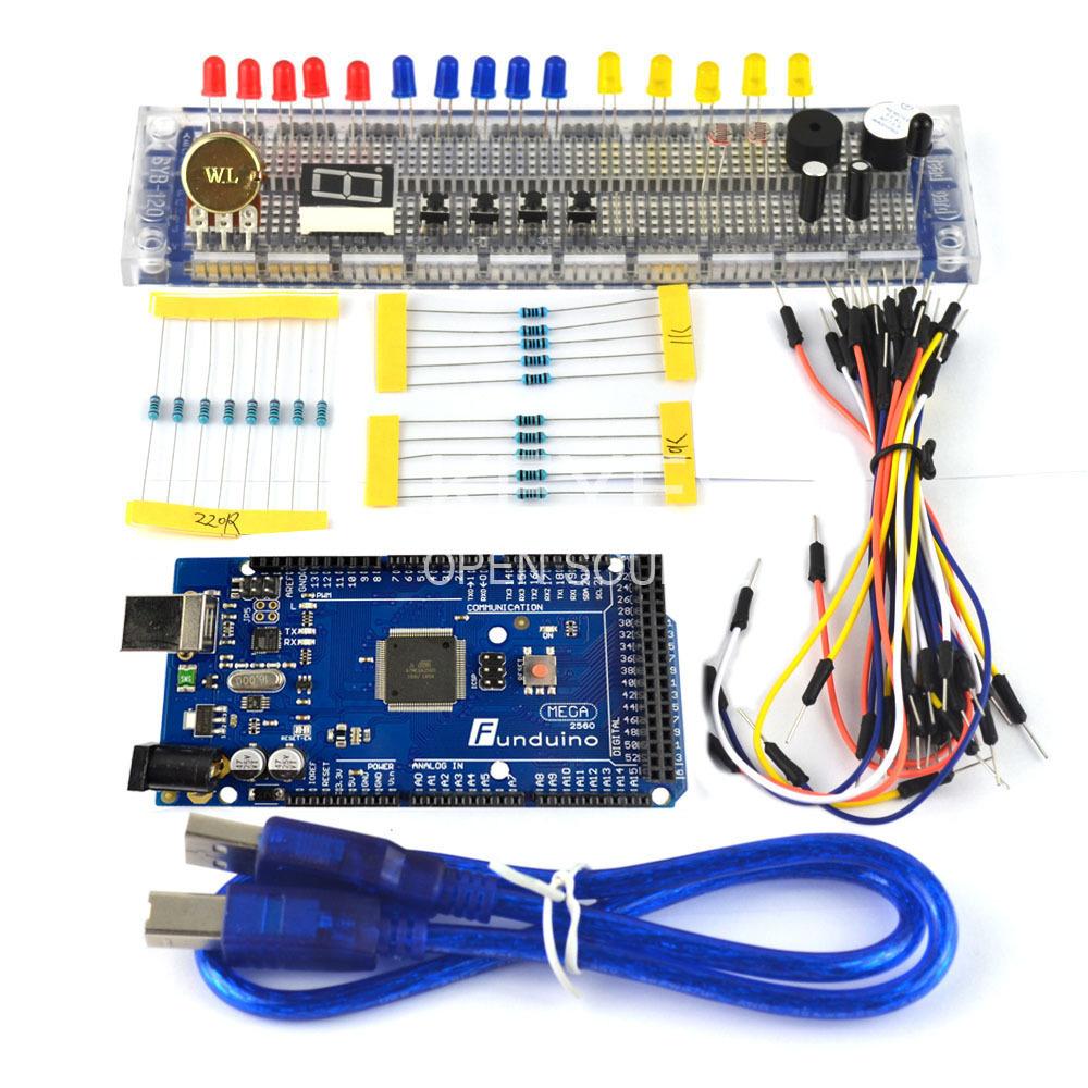 Free shipping! funduino mega 2560 R3 DIY basic kit...