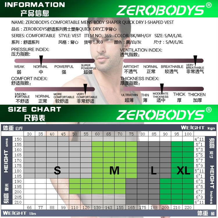 168c63d8a03f5 2019 Original ZEROBODYS Comfortable Men S Body Shaper I Shaped Vest ...