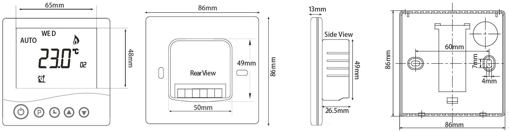 Tr3500 Dimensions