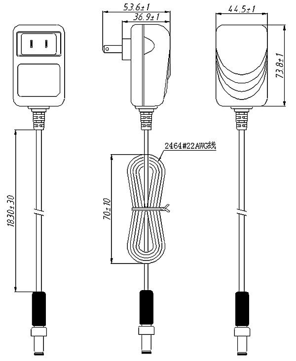 20 Volt Us 100v 240v Plug Adapter Switch Ul Listed Power