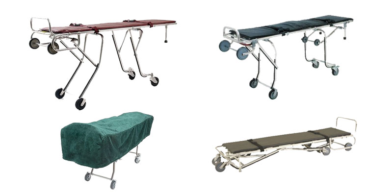 One Man Funeral Mortuary Ambulance Stretcher Cot With