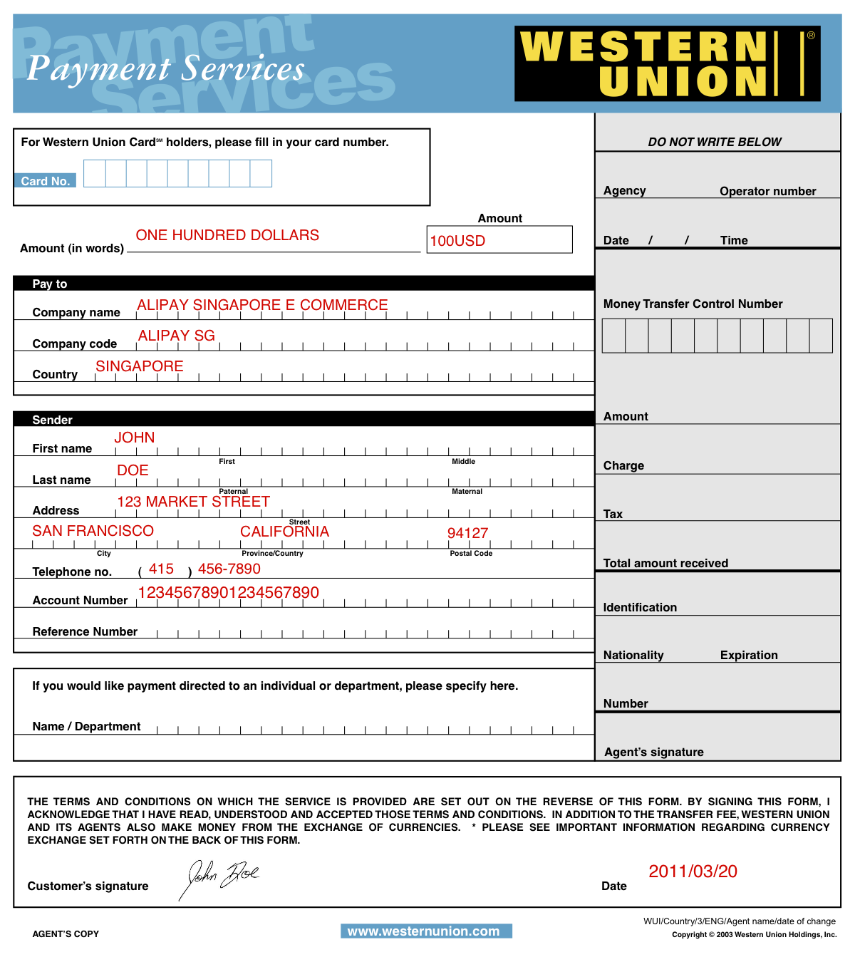 Check western union status using tracking number