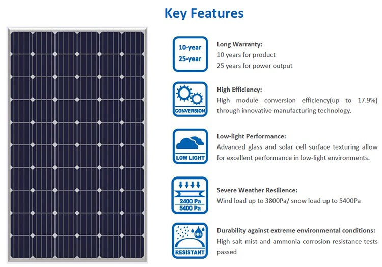 Solar Panel Monocrystalline 280w Solar Panel Taipo