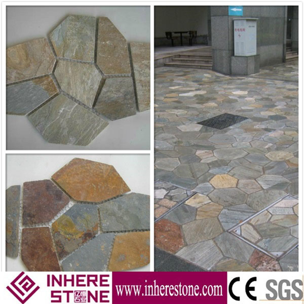 Outdoor Slate Stepping Stones Decorative Garden Stepping