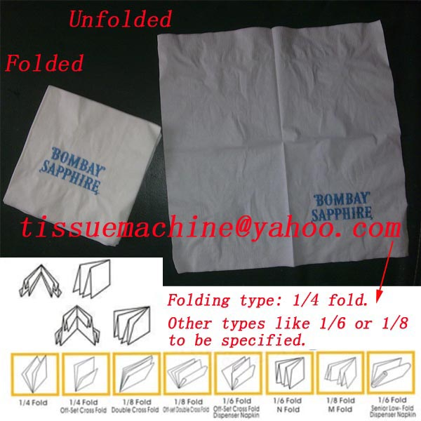 napkin folding packaging machine