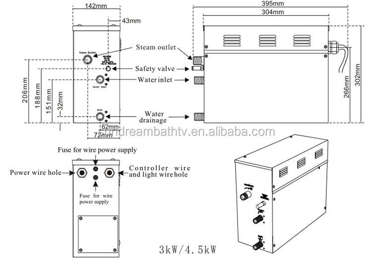 Steam Room Equipment 9kw Tylo Steam Generator