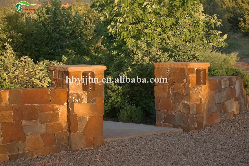 Random Flag Slab Stone Gate Pillars Id 9628376 Buy China