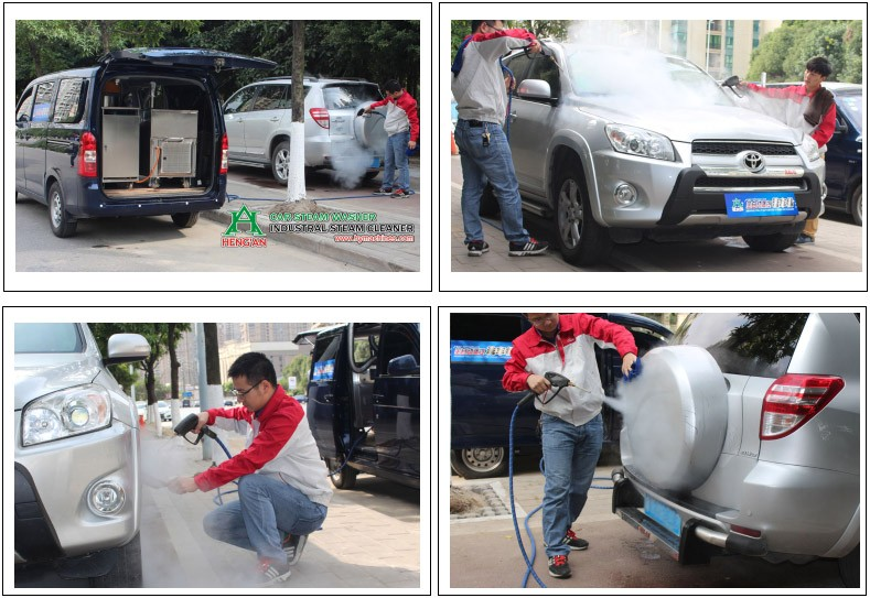 Hf1190 Lpg Mobile Car Steam Washer Two Guns Steam Car