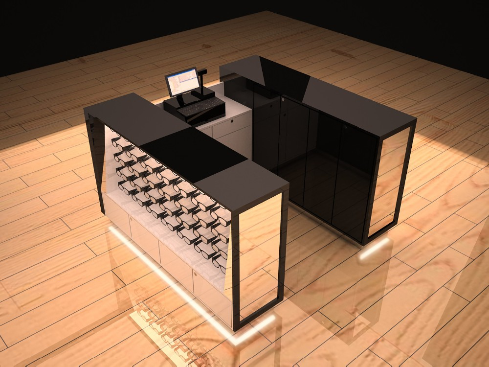 7b133bd93f7d shop furniture sunglass kiosk design with sun glass display rack ...