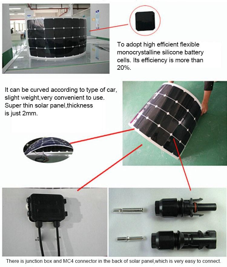 300w Flexible Solar Panel Flexible Pv Panels Taipo