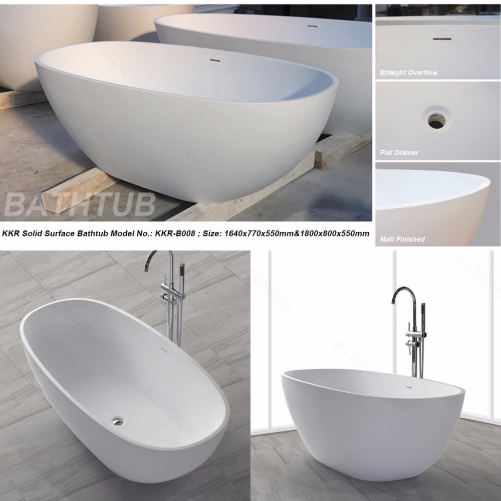 custom design oval shape solid surface cast stone bathtub tub from china. Black Bedroom Furniture Sets. Home Design Ideas