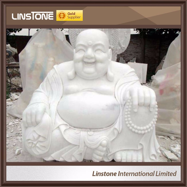 Western New Style White Marble Antique Marble Buddha Statues For