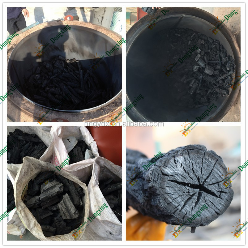 Nut Shell Wood Charcoal Pyrolysis Carbonization Kiln In