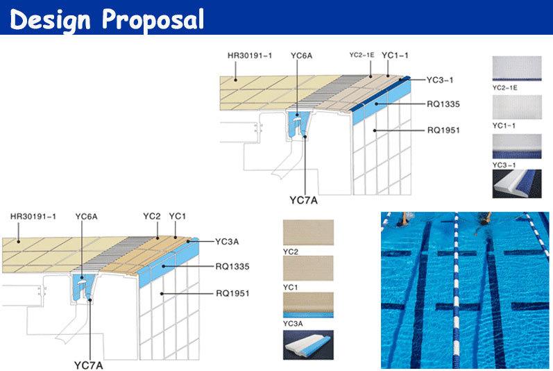 Fina Standard Swimming Pool Glazed Tile 244x119mm Taotao