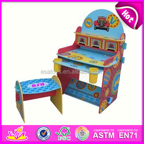 Kids Study Table Chair Writing Desk Wooden Children Baby
