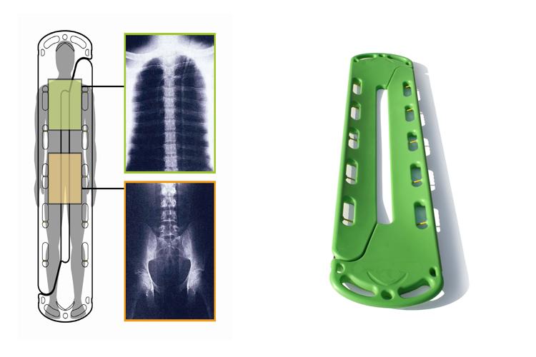 Ambulance medical plastic scoop stretcher - Buy Scoop ...