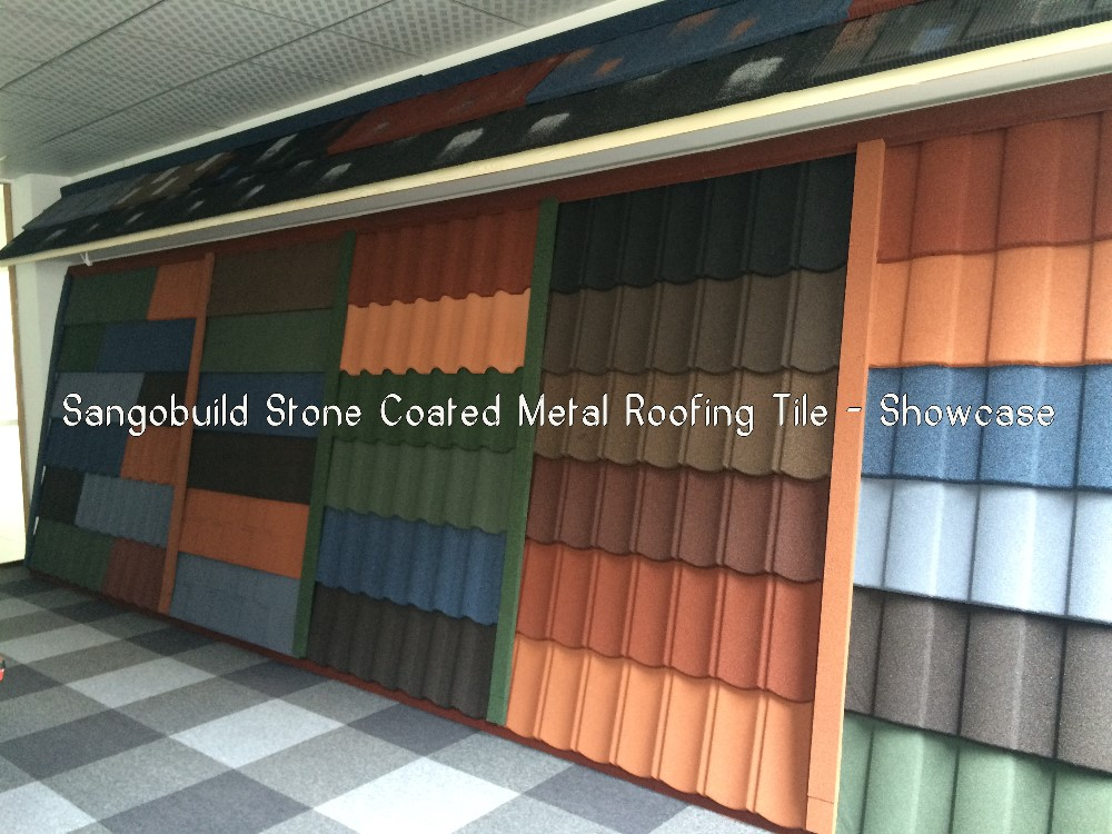 Nigeria Natural Stone Granules Coated Aluminum Zinc Steel