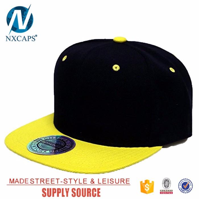 af8d3595e24 Wholesale blank flat brim snapback cap colorful 6 panel Acrylic sport hat