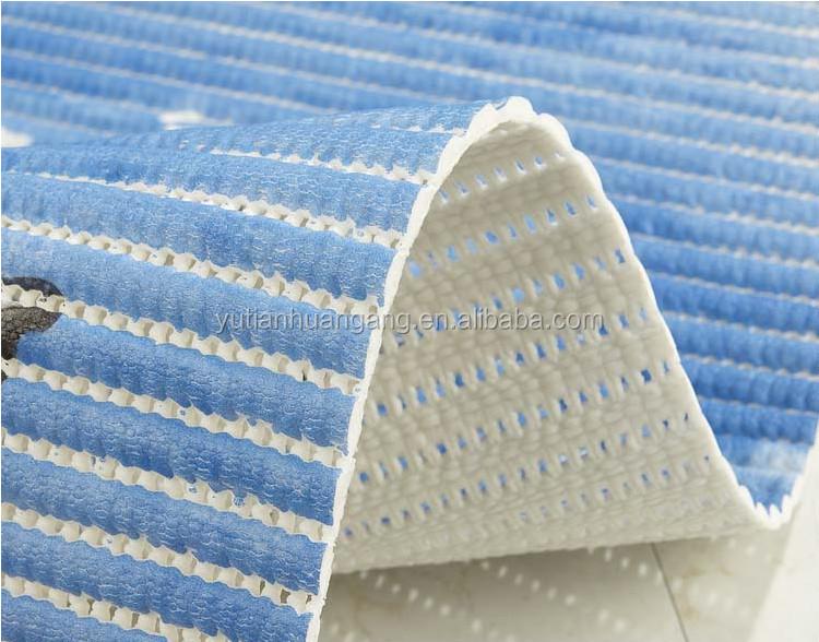 Printed Foam Anti Slip Roll Mat Vinyl No Suction Cup Bath