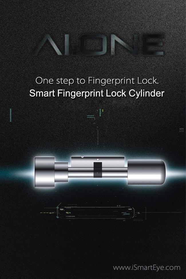 Fingerprint Lock Cylinder Biometric Reader 433mhz Remote