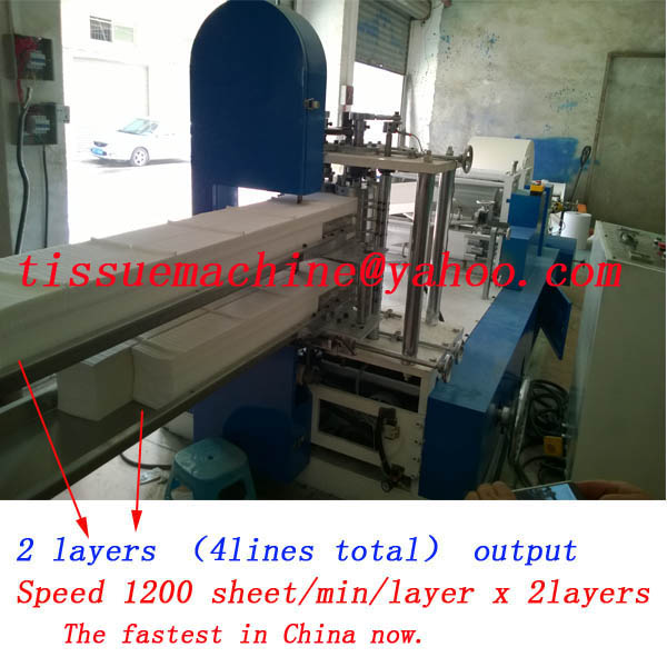 fully automatic production line for paper napkins