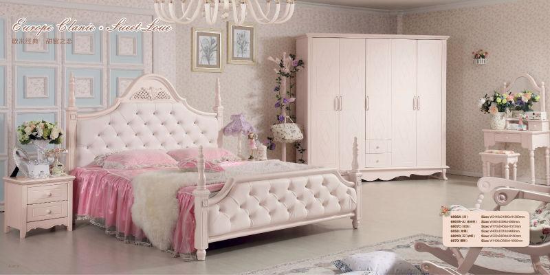 Mooie Slaapkamer Voor Kinderen.Luxe Mooie Witte Kinderen Houten Slaapkamer Set China Aluminium