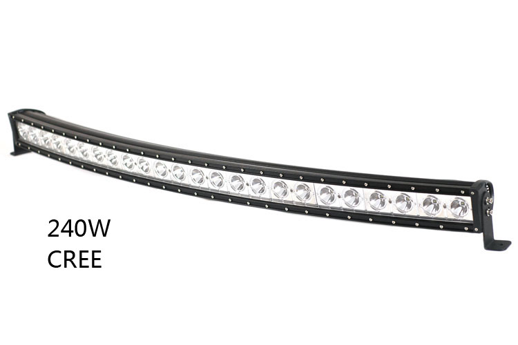 50 Inch Cree Single Row Led Curved Light Bar Off Road Work