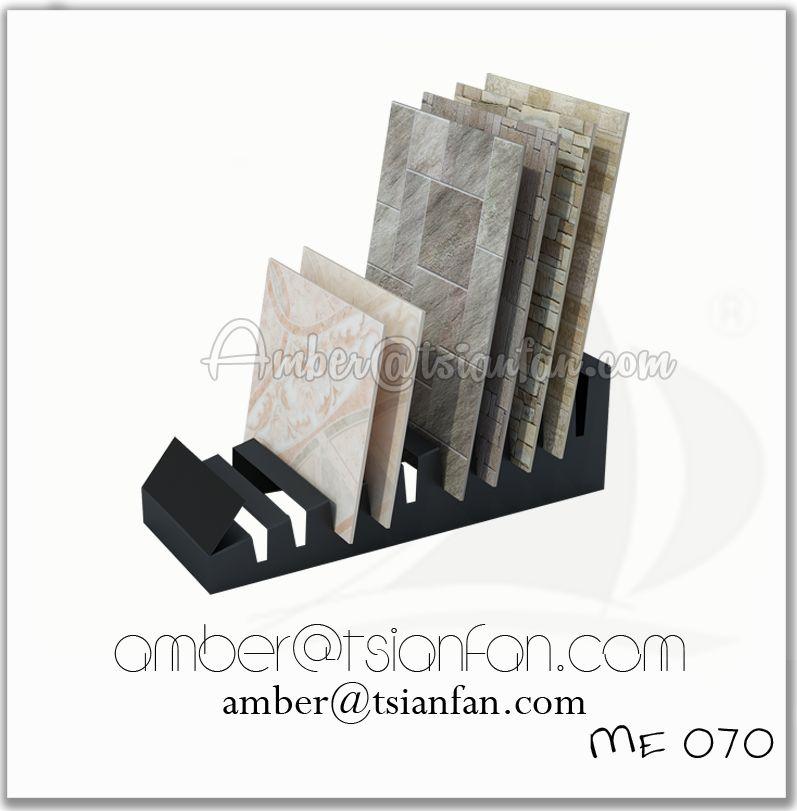 Metal Tile Display Stand Ceramic
