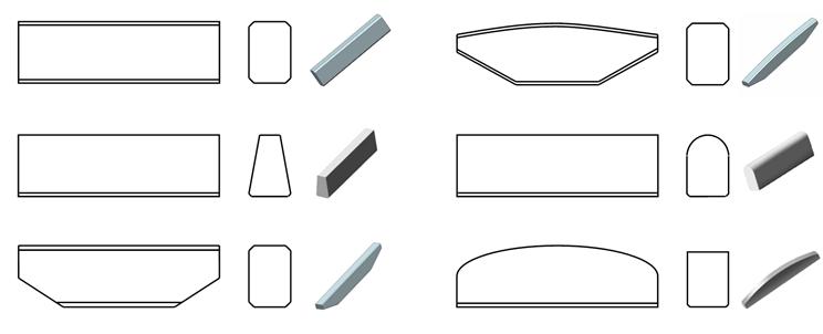 carbide tip for VSI crusher