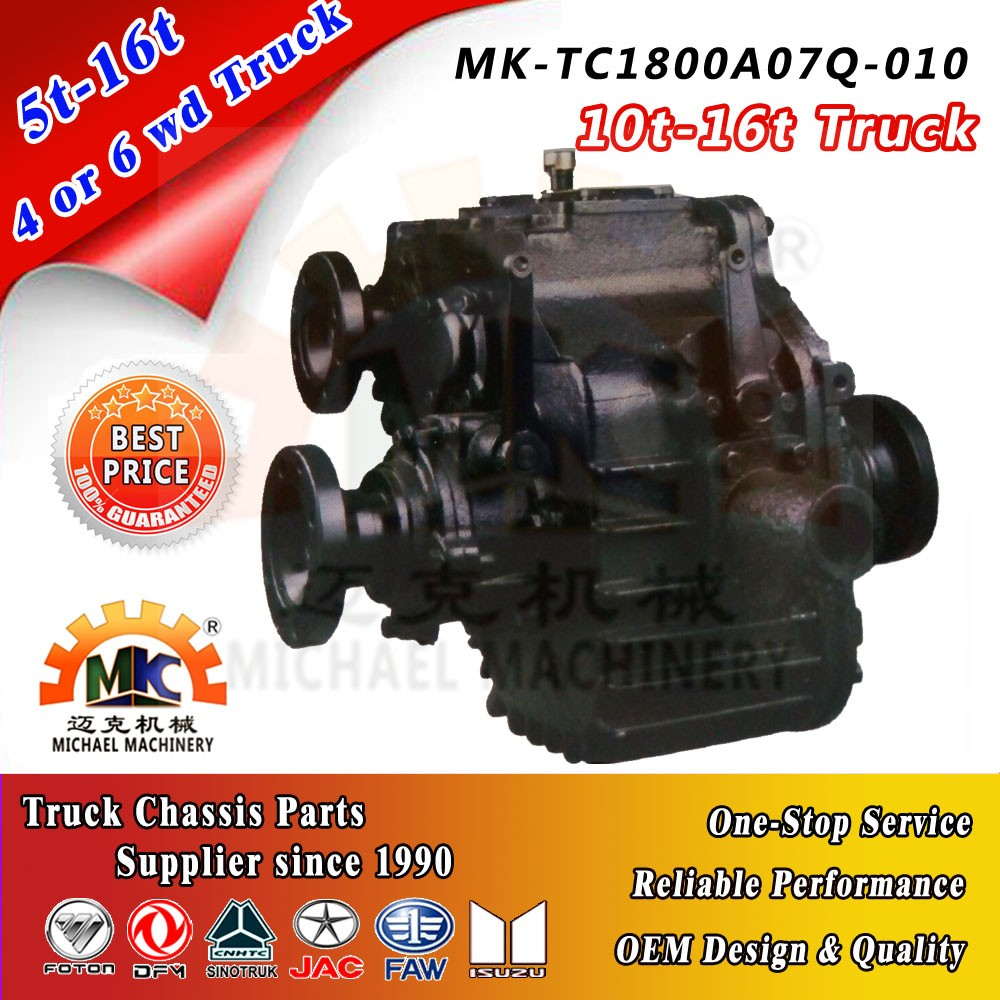 Truck Parts Transfer Case/Gearbox for 10-16ton 4x4 6x6 KIA
