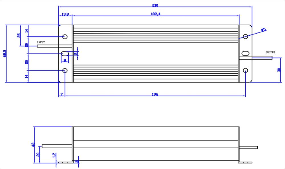 12V 24V 36V constant voltage 60W DALI dimmable led driver