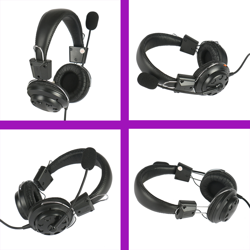 Fancy computer headset with microphone T16