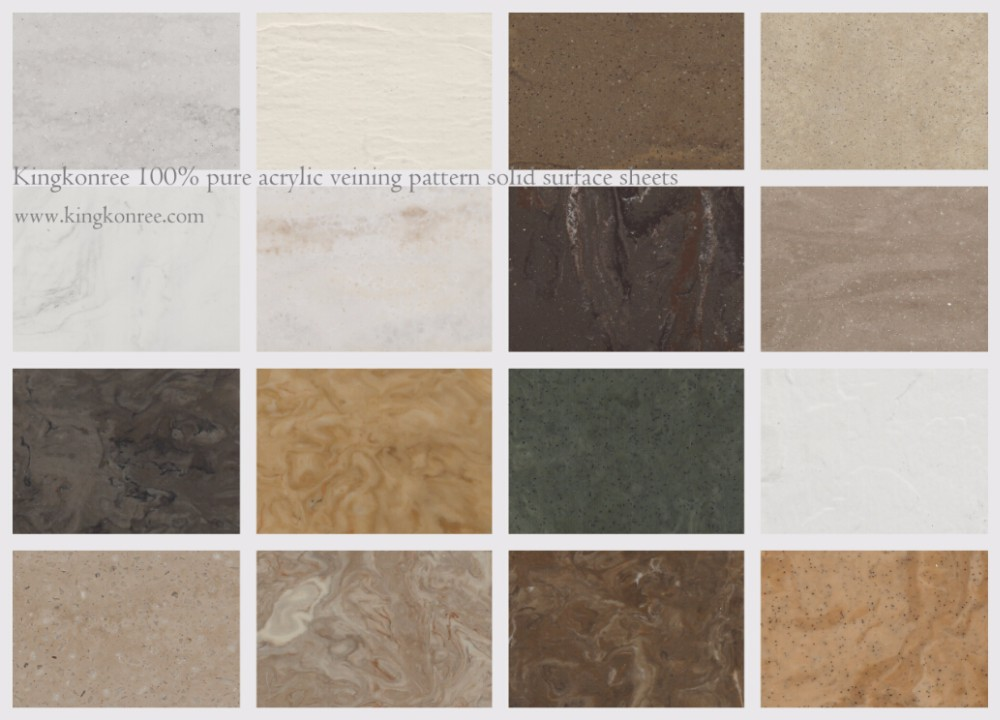 Kkr Wholesale Textured Marble Corian Cambria Acrylic Solid