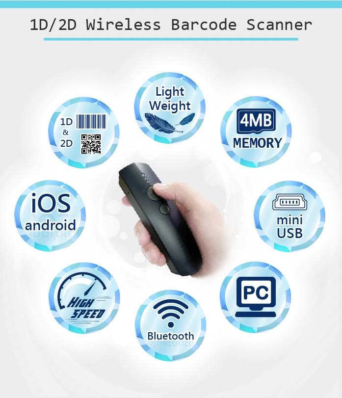 Wireless Barcode Scanner,Handheld Barcode Scanner