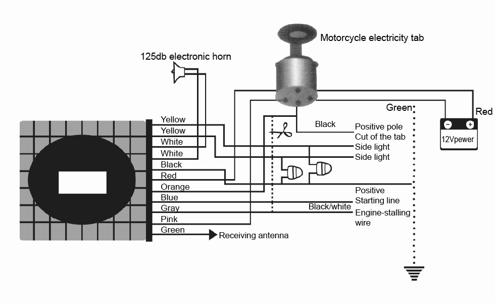 motorcycle anti-theft security alarm system remote control ... dsc security system wiring diagram 1550 security system wiring diagrams #6